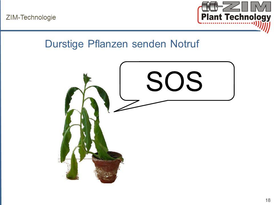 ZIM-Technologie Durstige Pflanzen senden Notruf SOSS