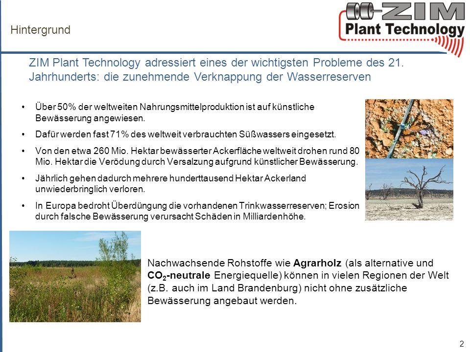 Hintergrund ZIM Plant Technology adressiert eines der wichtigsten Probleme des 21. Jahrhunderts: die zunehmende Verknappung der Wasserreserven.