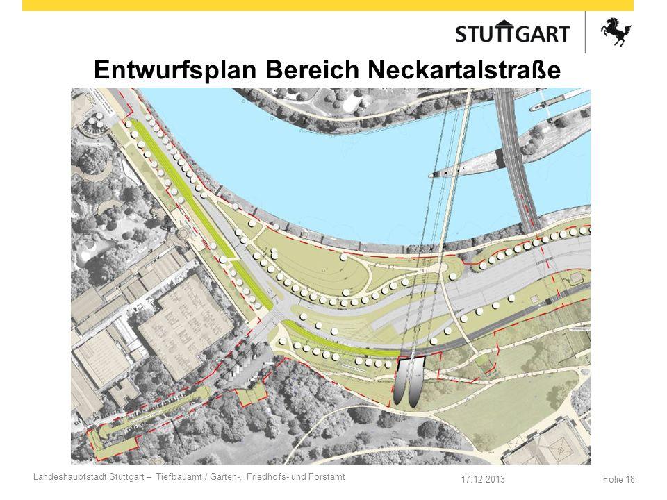 Entwurfsplan Bereich Neckartalstraße