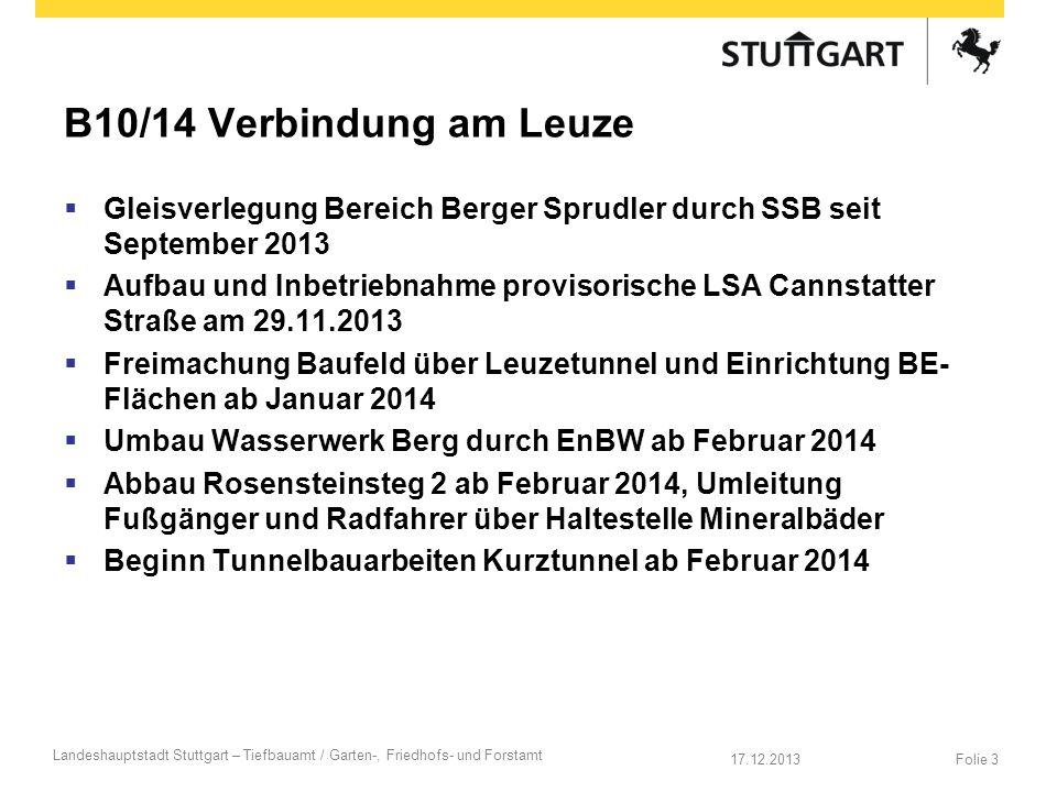 B10/14 Verbindung am Leuze Gleisverlegung Bereich Berger Sprudler durch SSB seit September 2013.