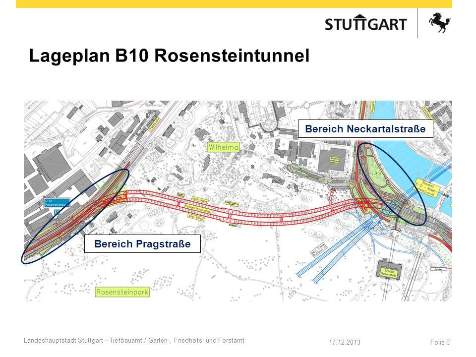 Lageplan B10 Rosensteintunnel