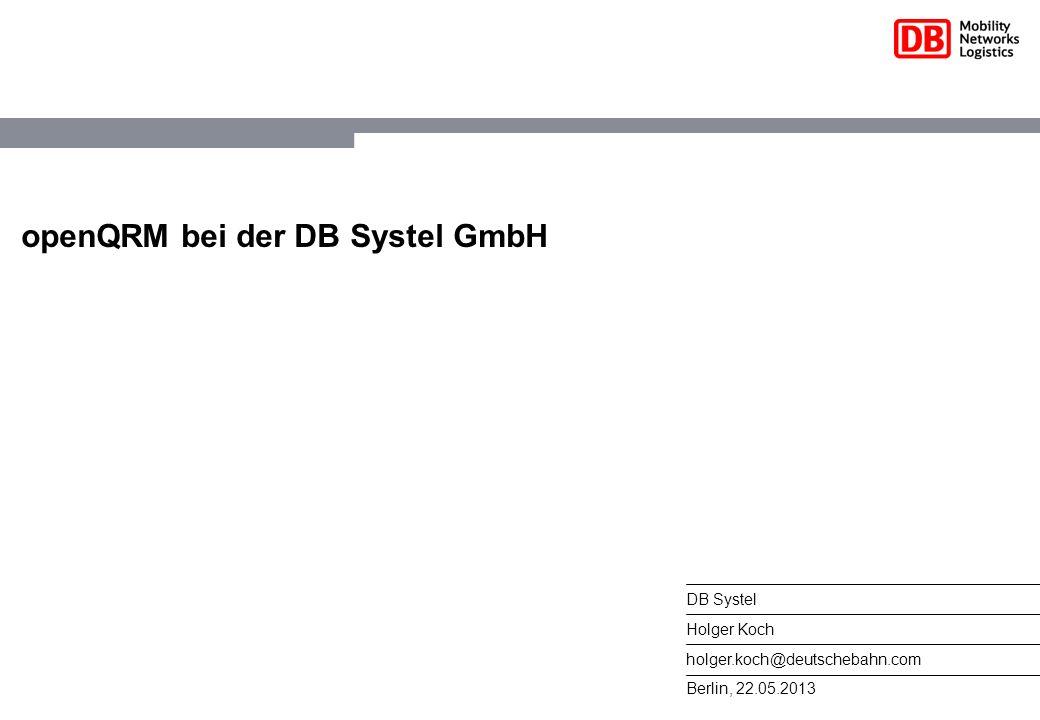 openQRM bei der DB Systel GmbH