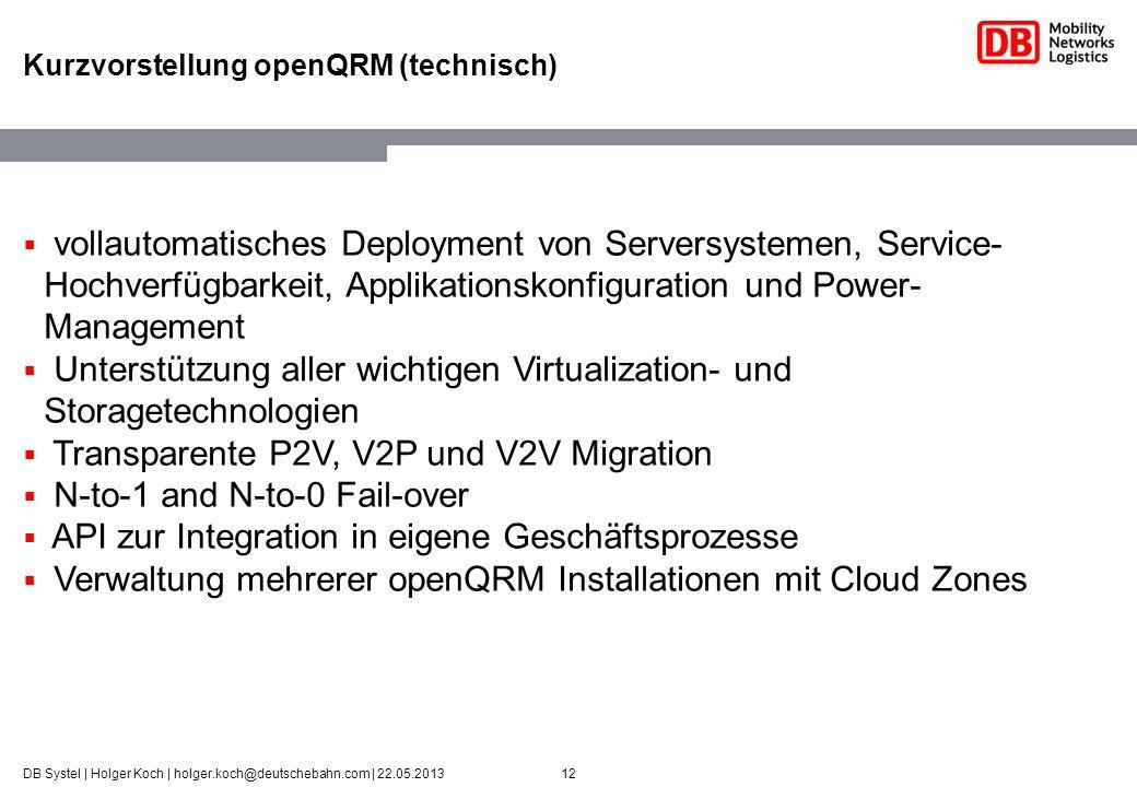 Kurzvorstellung openQRM (technisch)
