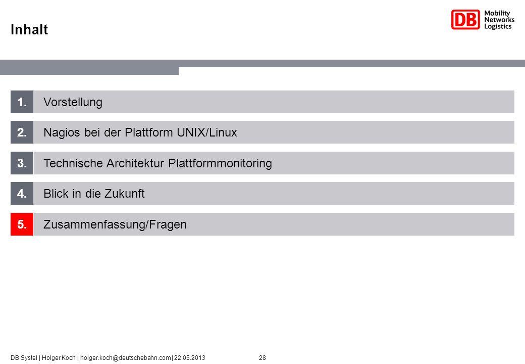 Inhalt 1. Vorstellung 2. Nagios bei der Plattform UNIX/Linux 3.