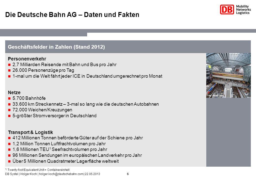 Die Deutsche Bahn AG – Daten und Fakten