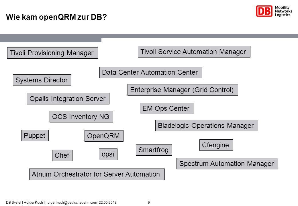 Wie kam openQRM zur DB Tivoli Provisioning Manager