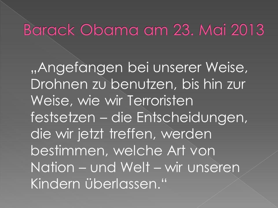 Barack Obama am 23. Mai 2013