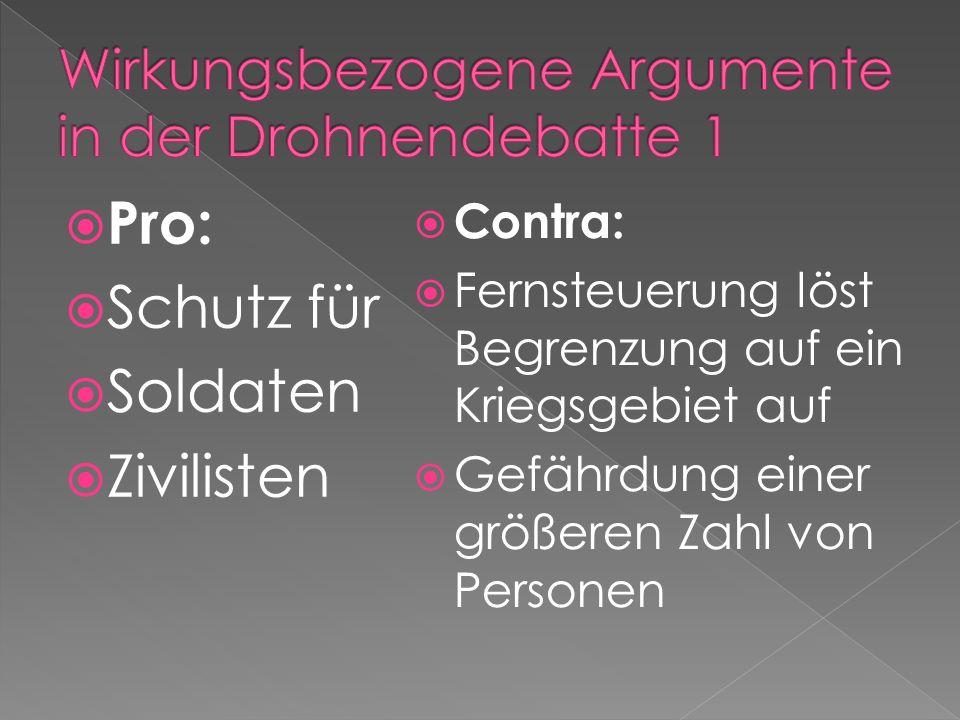 Wirkungsbezogene Argumente in der Drohnendebatte 1