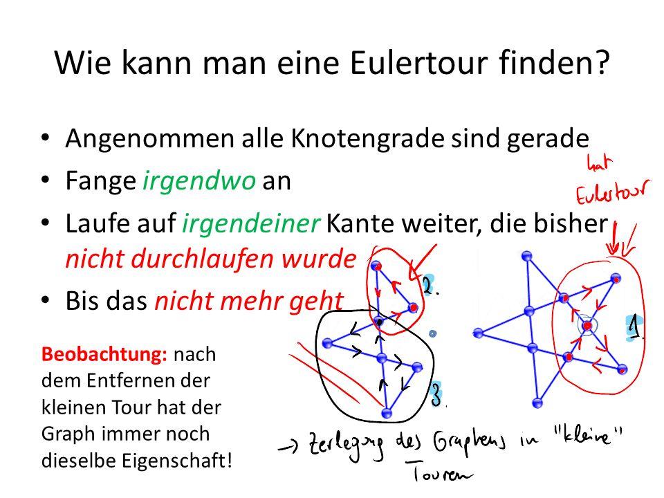 Wie kann man eine Eulertour finden