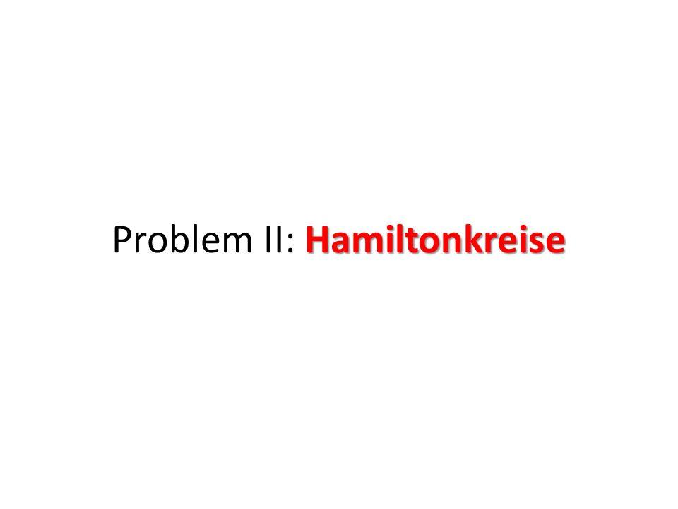 Problem II: Hamiltonkreise