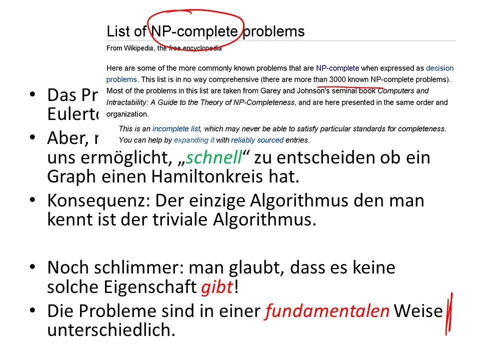 Besser Das Problem ist ähnlich zum Problem über Eulertouren…