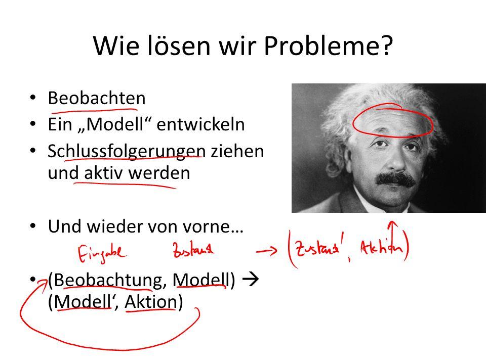 """Wie lösen wir Probleme Beobachten Ein """"Modell entwickeln"""