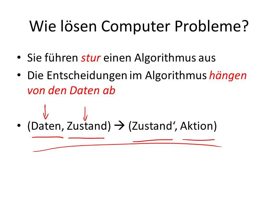 Wie lösen Computer Probleme