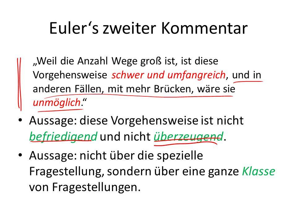 Euler's zweiter Kommentar