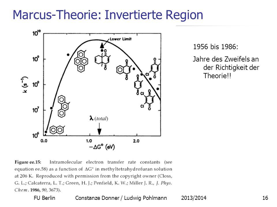 Marcus-Theorie: Invertierte Region