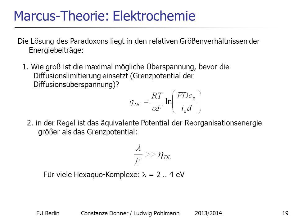 Marcus-Theorie: Elektrochemie