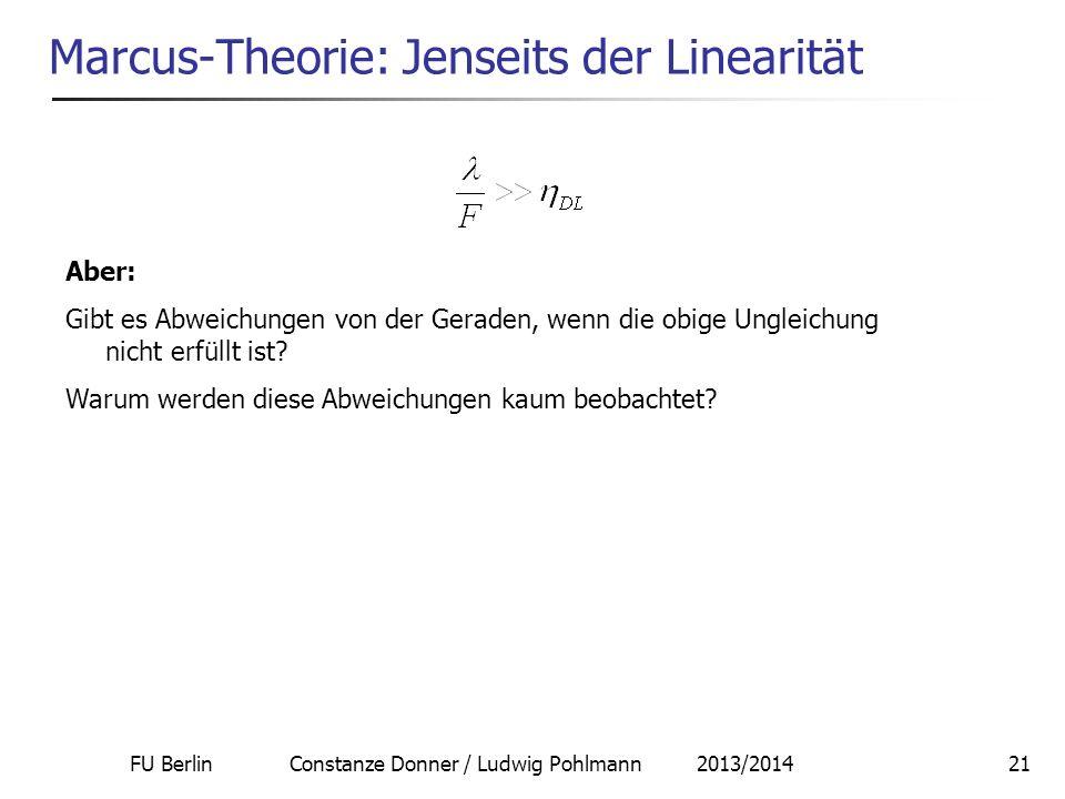 Marcus-Theorie: Jenseits der Linearität