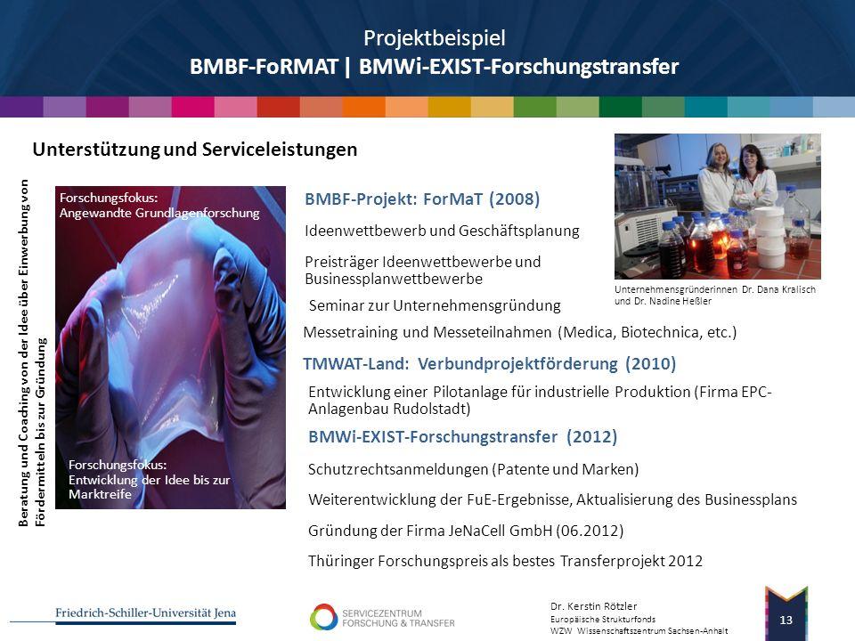 Projektbeispiel BMBF-FoRMAT | BMWi-EXIST-Forschungstransfer