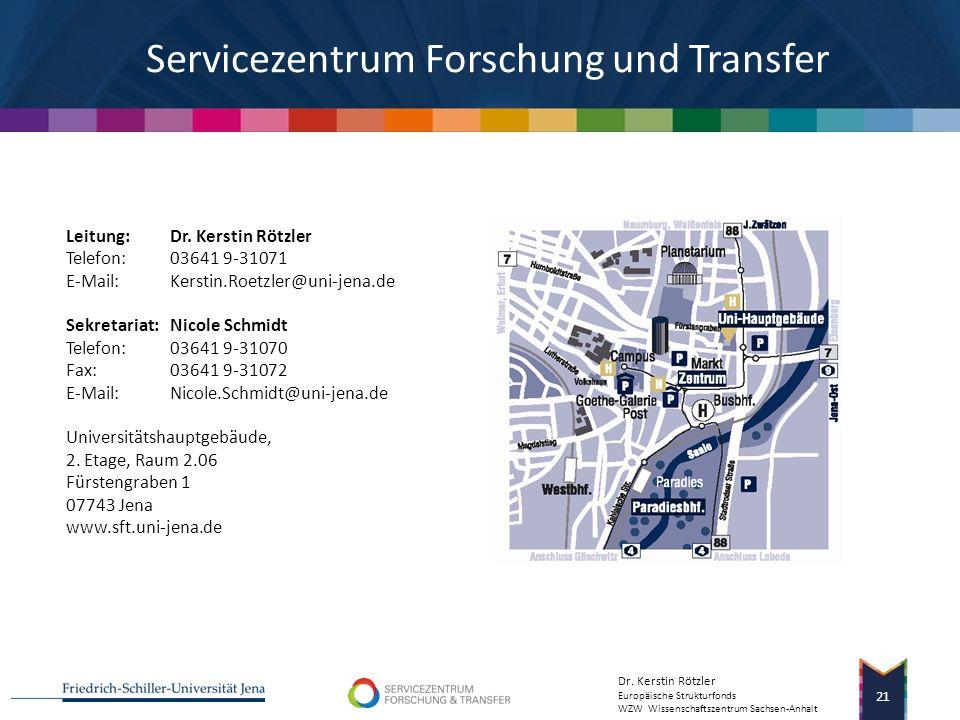Servicezentrum Forschung und Transfer