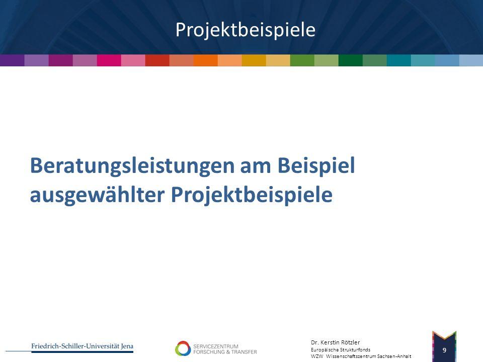 Beratungsleistungen am Beispiel ausgewählter Projektbeispiele