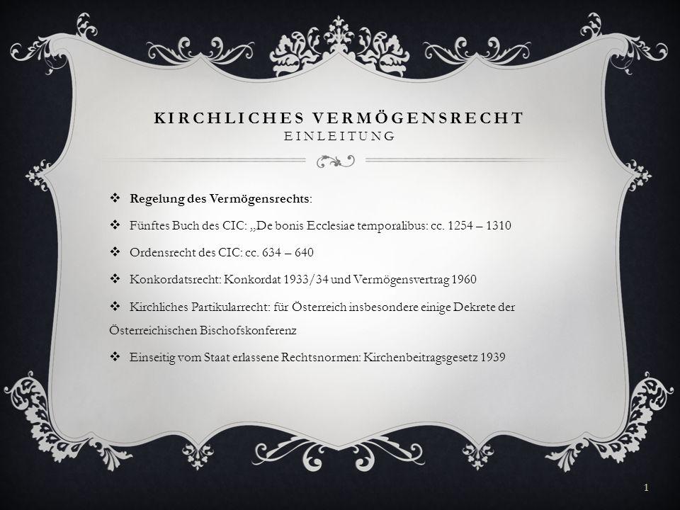 Kirchliches Vermögensrecht Einleitung Ppt Video Online Herunterladen