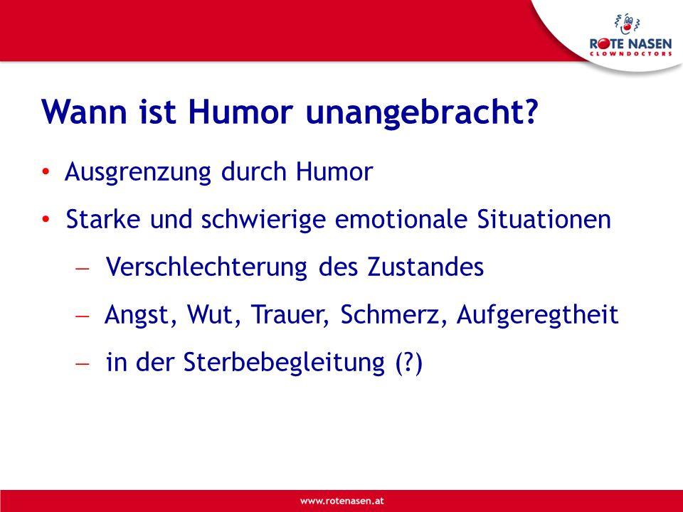 Wann ist Humor unangebracht