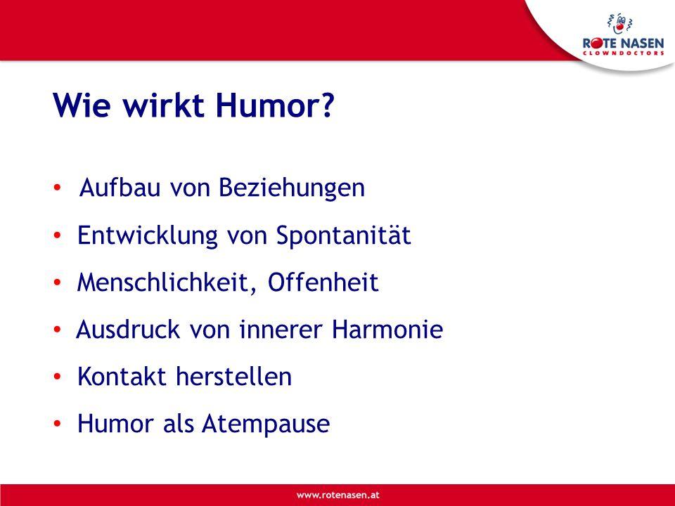 Wie wirkt Humor Aufbau von Beziehungen Entwicklung von Spontanität