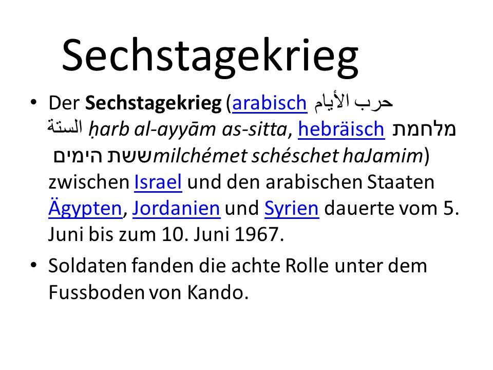 Sechstagekrieg