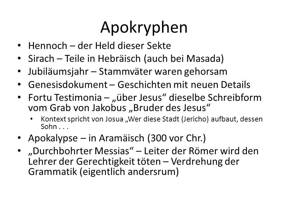 Apokryphen Hennoch – der Held dieser Sekte