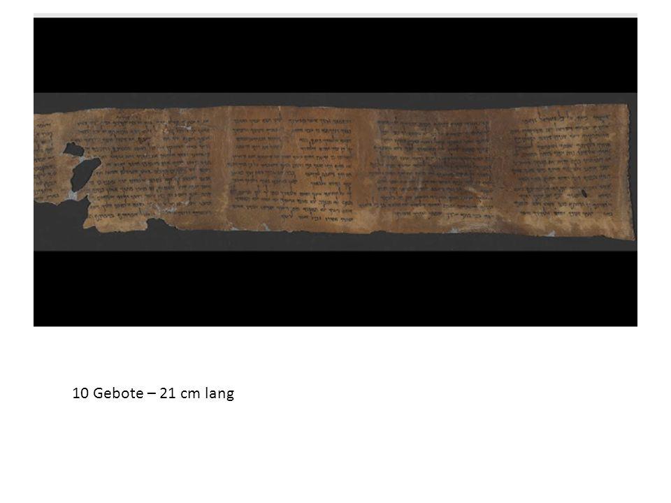 10 Gebote – 21 cm lang