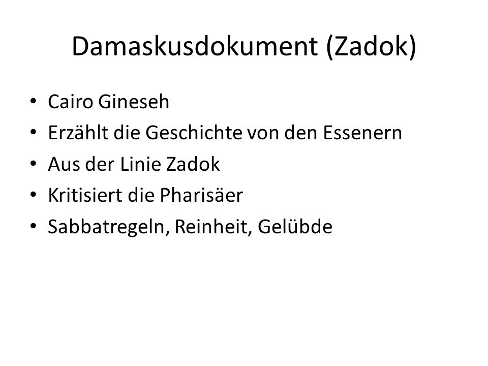 Damaskusdokument (Zadok)