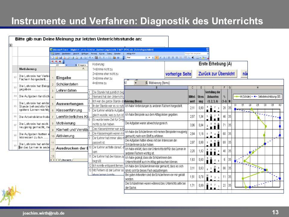 Instrumente und Verfahren: Diagnostik des Unterrichts