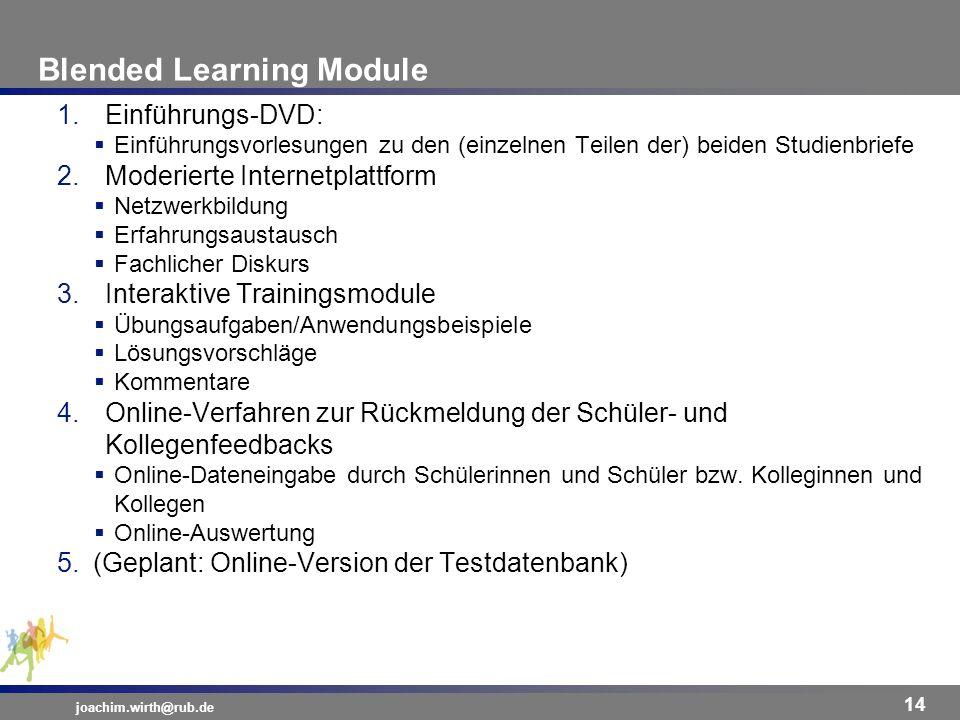Blended Learning Module