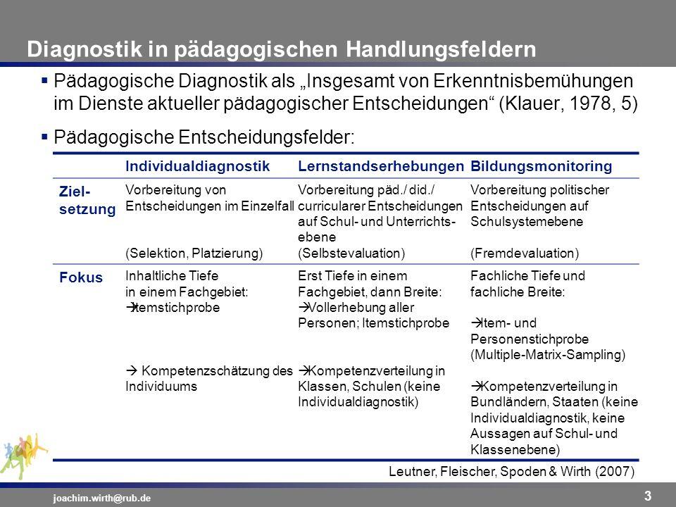 Diagnostik in pädagogischen Handlungsfeldern