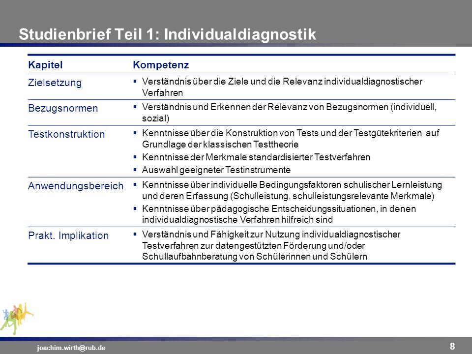 Studienbrief Teil 1: Individualdiagnostik