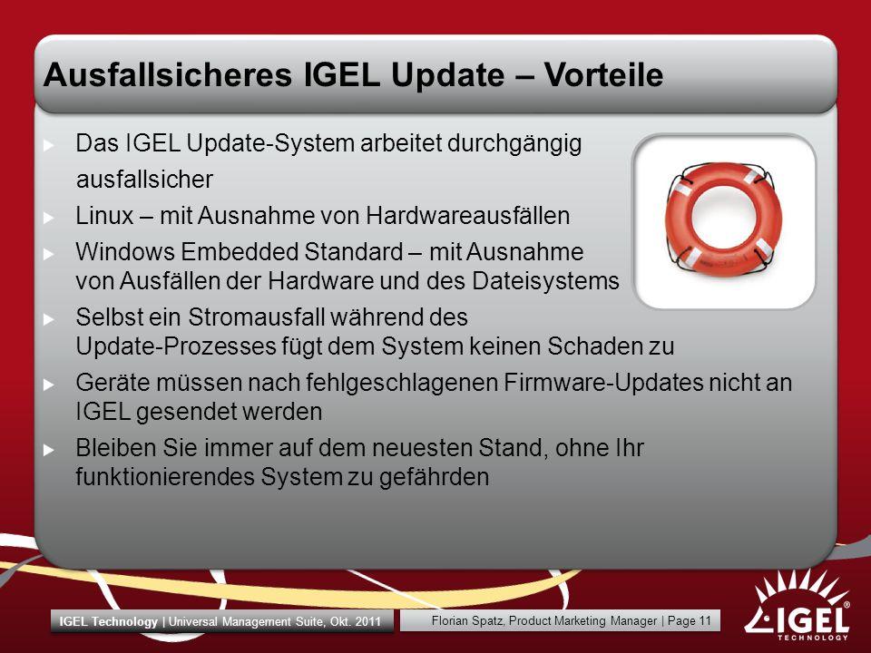 Ausfallsicheres IGEL Update – Vorteile