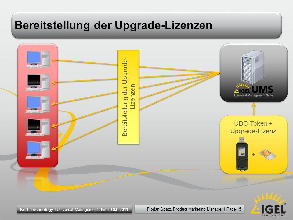 Bereitstellung der Upgrade-Lizenzen