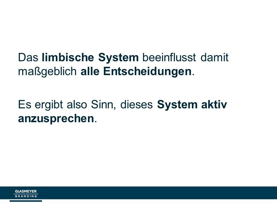 Das limbische System beeinflusst damit maßgeblich alle Entscheidungen