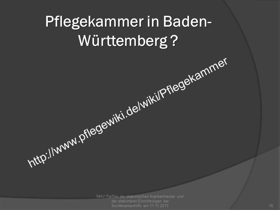 Pflegekammer in Baden-Württemberg