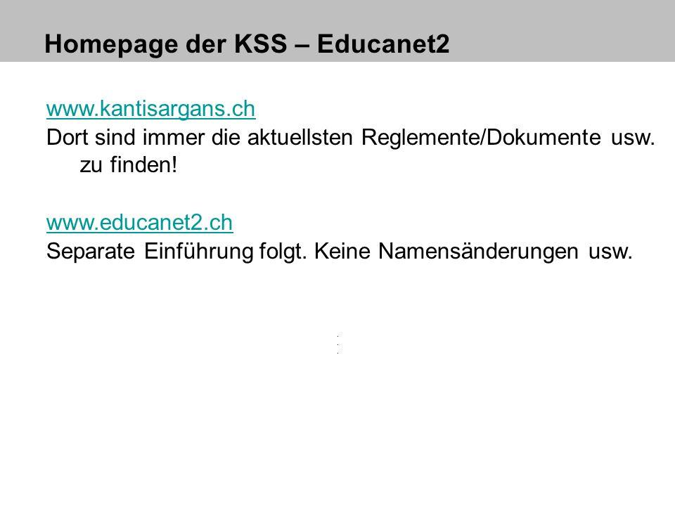Homepage der KSS – Educanet2