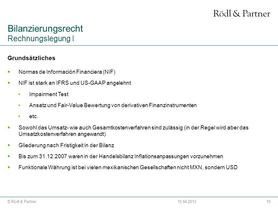 Bilanzierungsrecht Rechnungslegung I