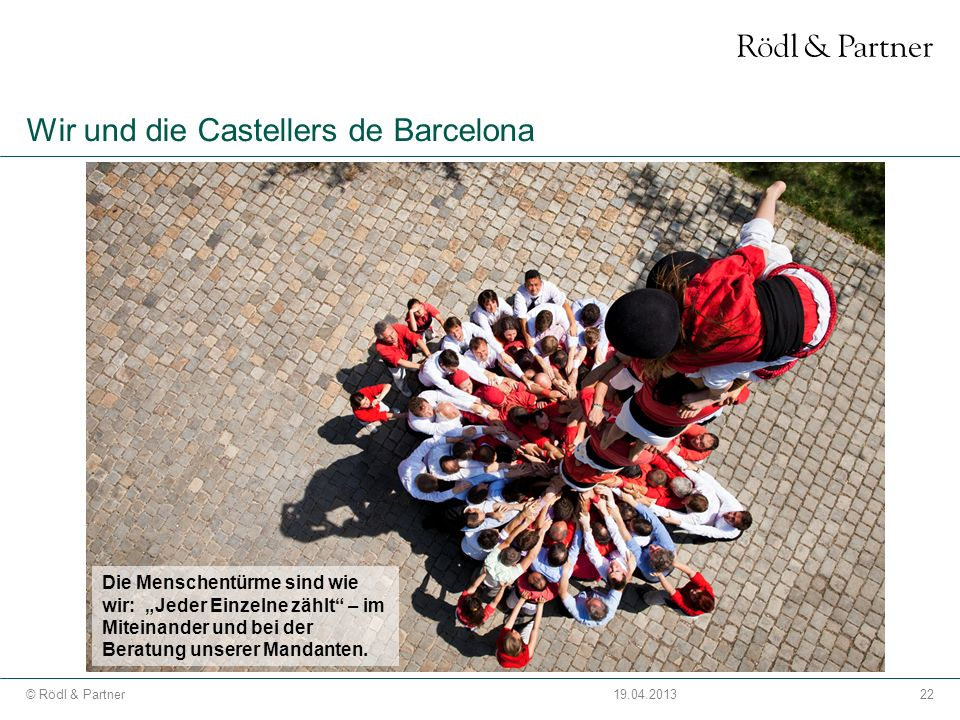 Wir und die Castellers de Barcelona