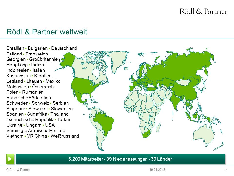Rödl & Partner weltweit