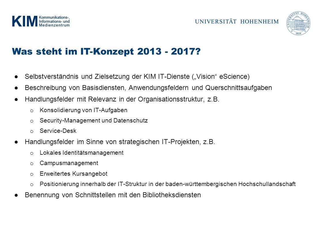 Was steht im IT-Konzept 2013 - 2017