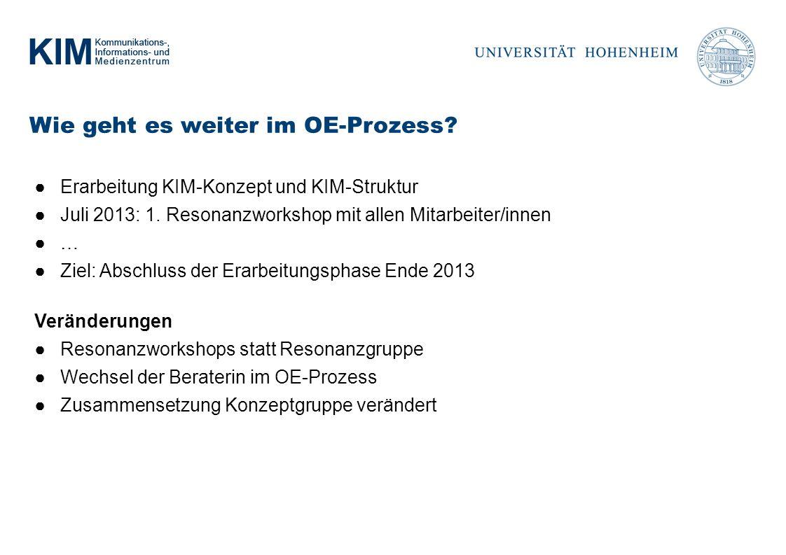 Wie geht es weiter im OE-Prozess