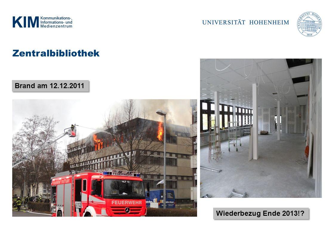 Zentralbibliothek Brand am 12.12.2011 Wiederbezug Ende 2013!
