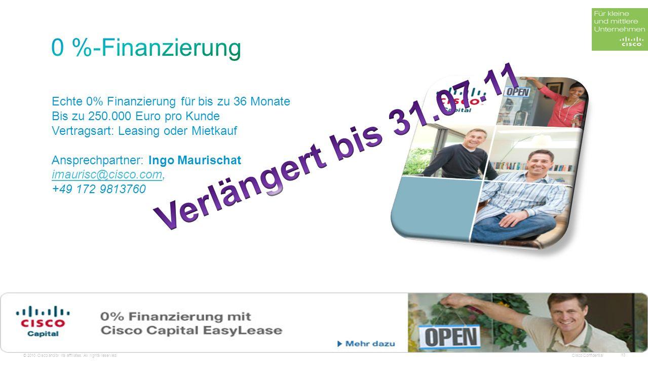 Verlängert bis 31.07.11 0 %-Finanzierung