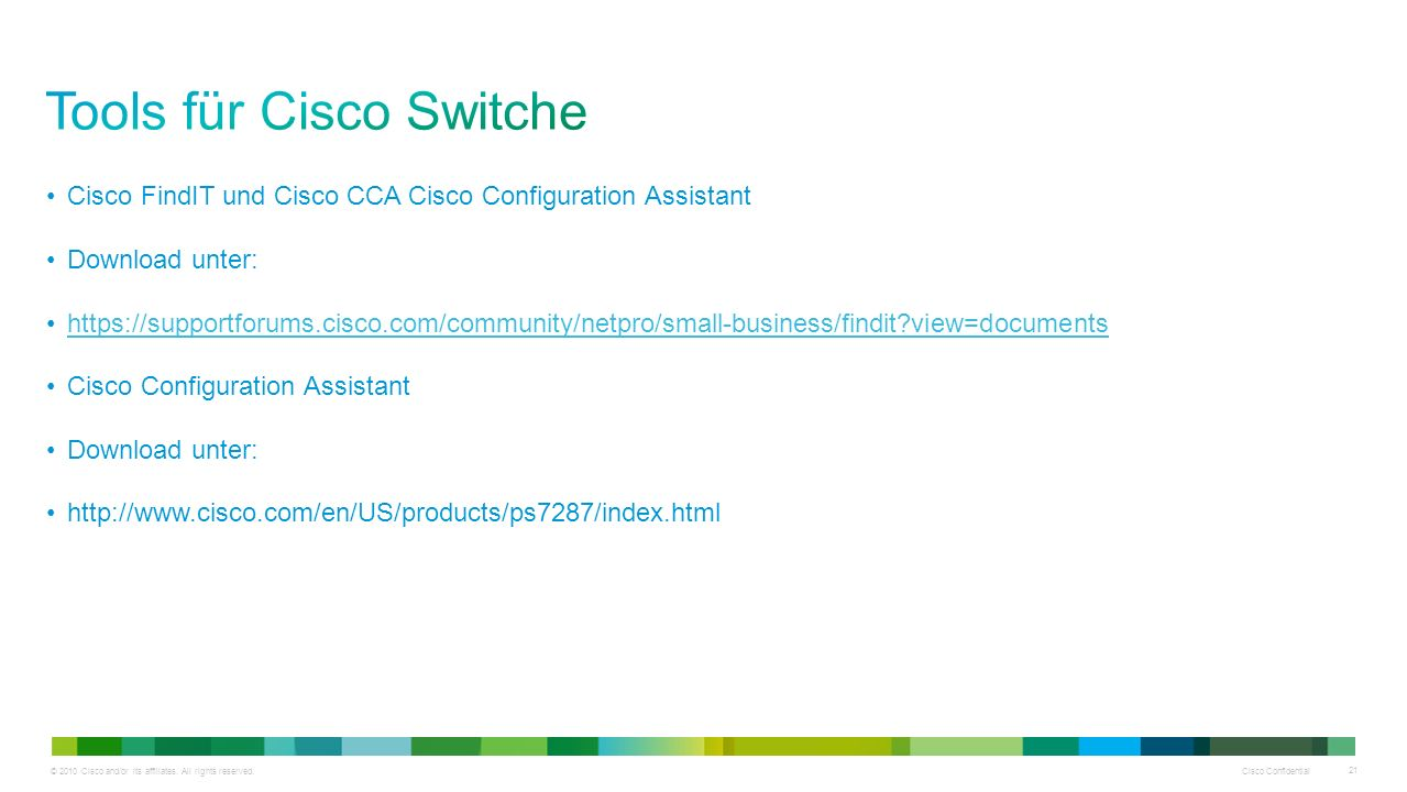 Tools für Cisco Switche