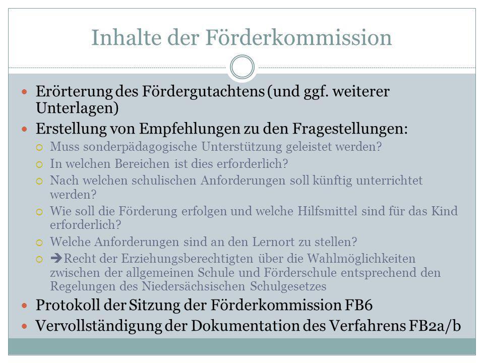 Inhalte der Förderkommission