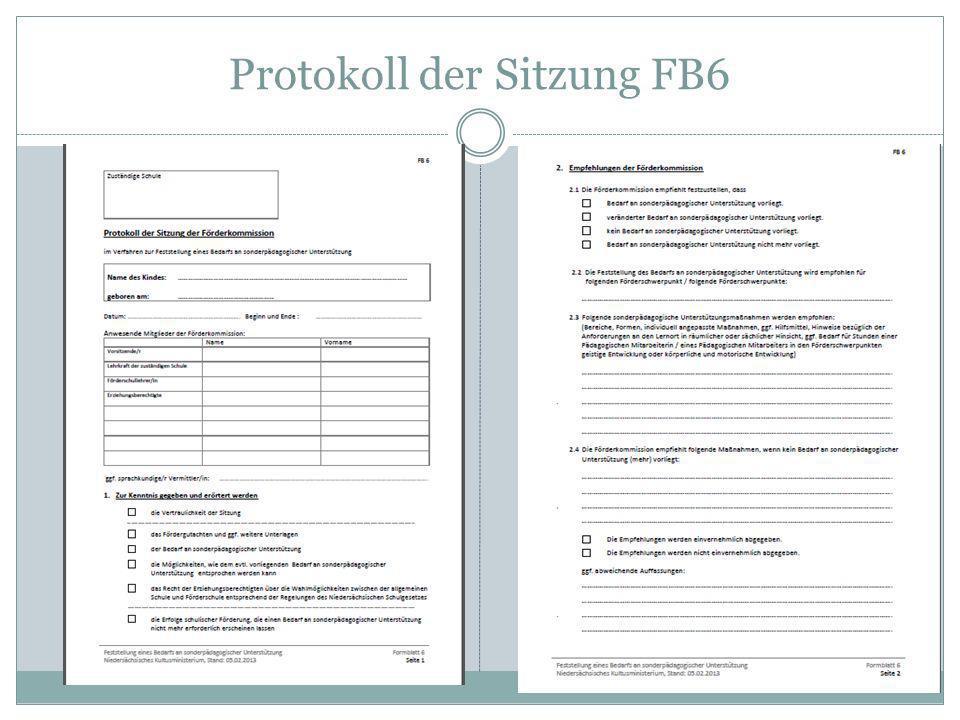 Protokoll der Sitzung FB6